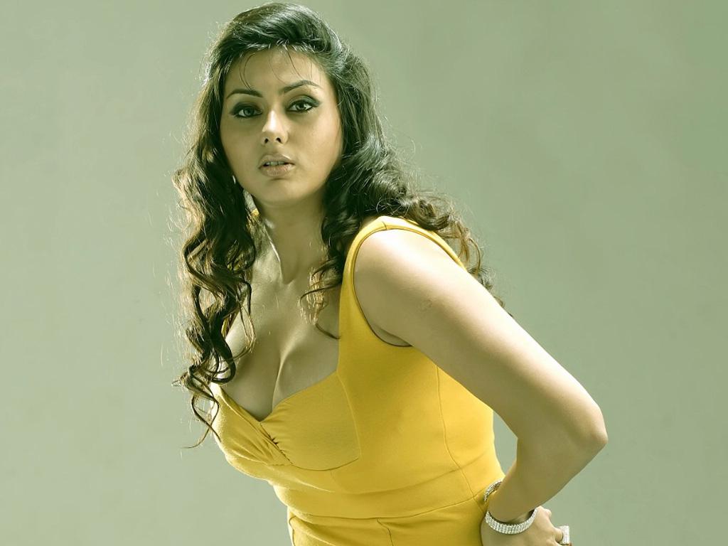 Namitha yellow color dress