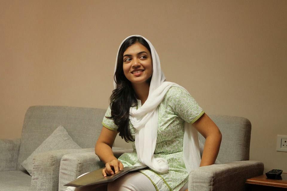 Nazriya nazim actress green color dress pictures
