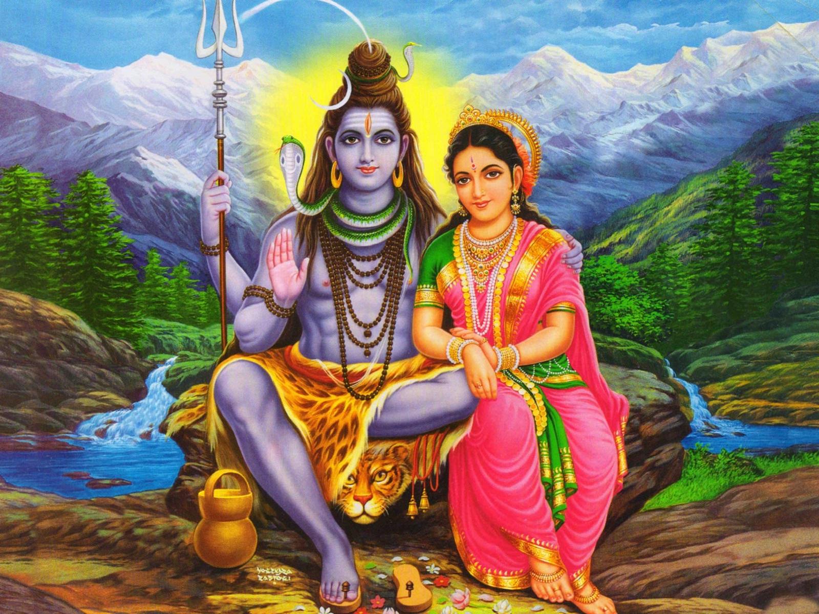 Sivan with parvathi photos