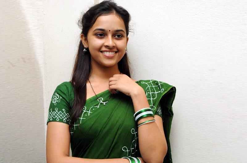Sri divya green dress photo