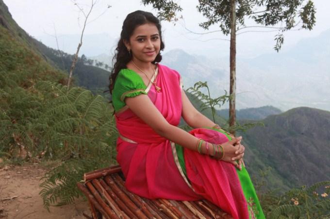 Sri divya red saree stills