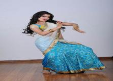 samantha light blue saree