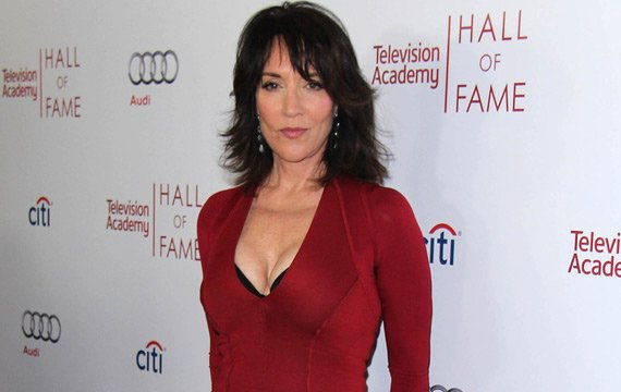 Katey sagal red color dress photos