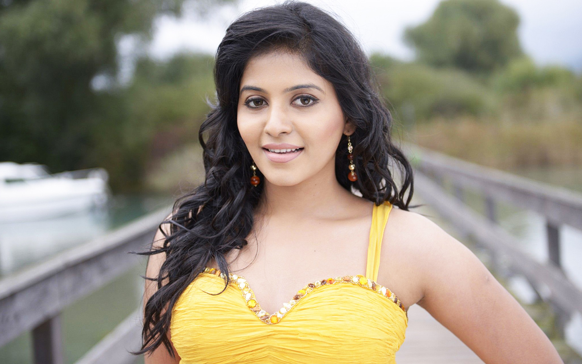 Anjali yellow color dress