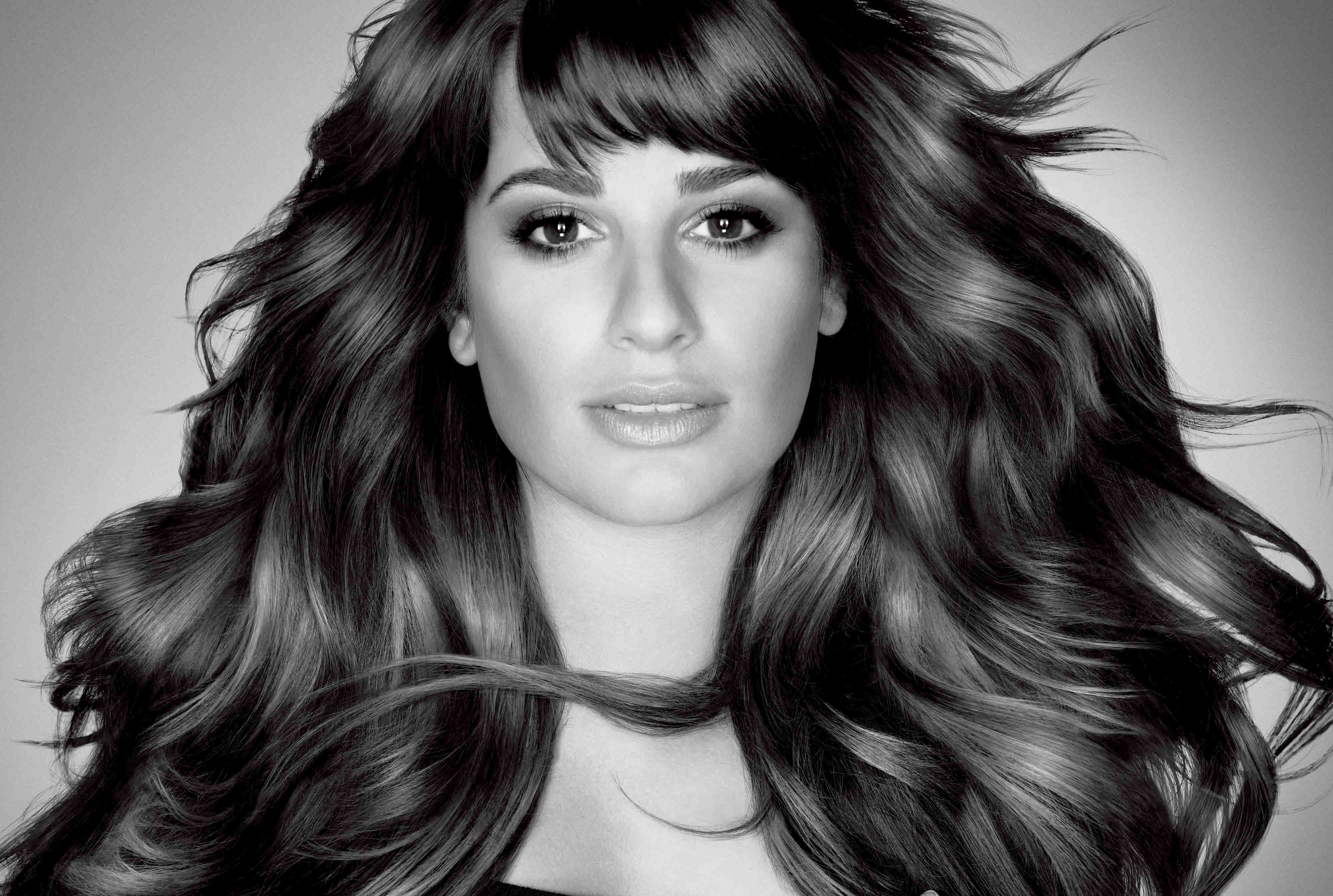 Lea michele actress black and white stills