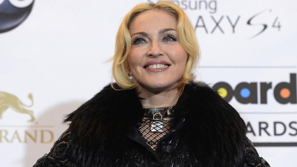 Madonna black color dress photos