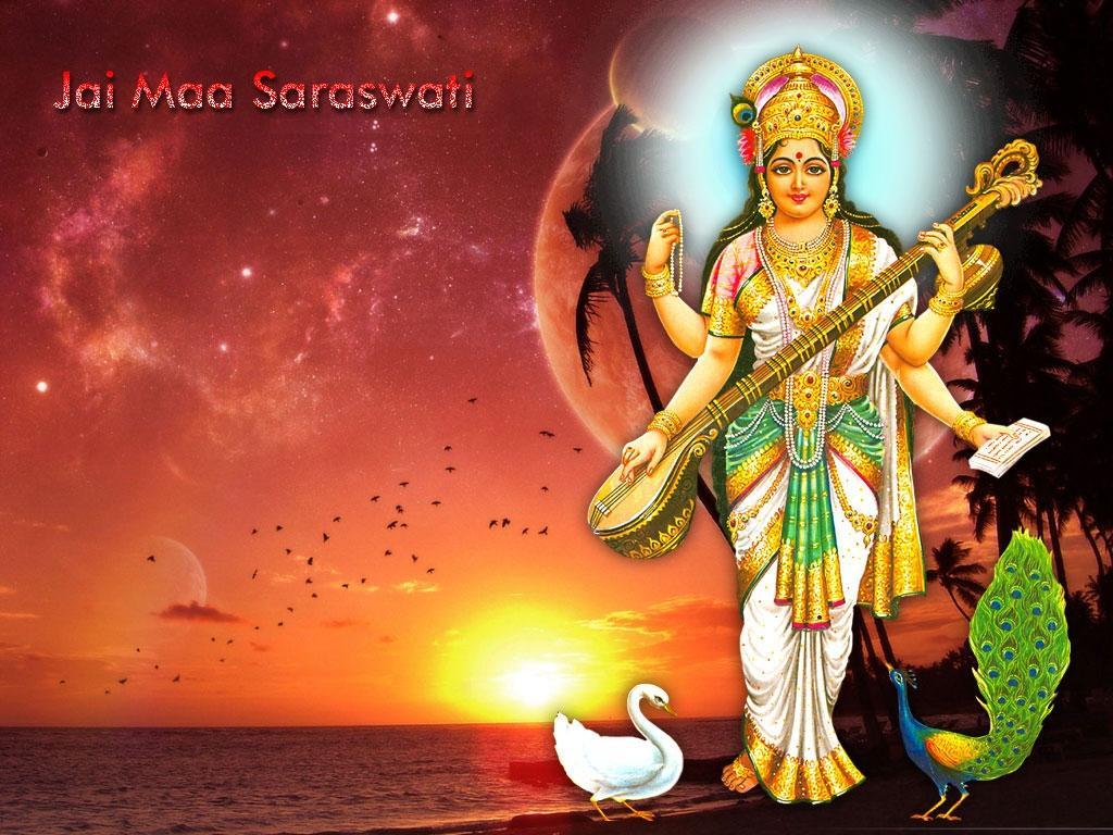 Saraswati standing photo