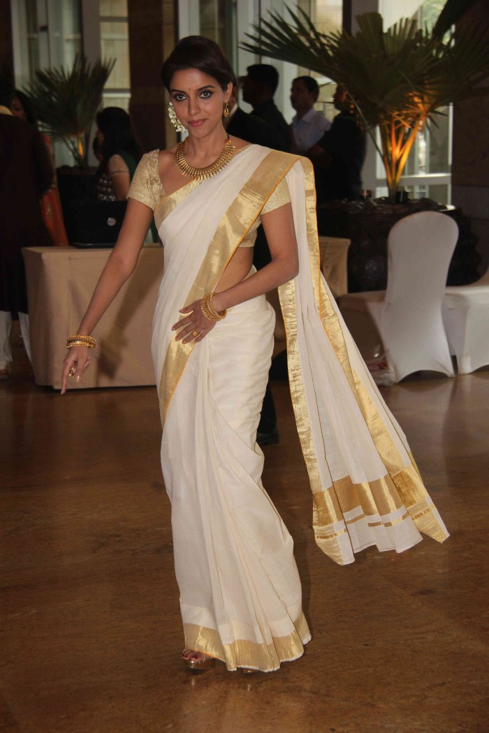 Asin kerala traditional saree photos