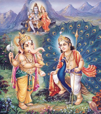 God murugan with vinayagar and sivan with parvathi pictures