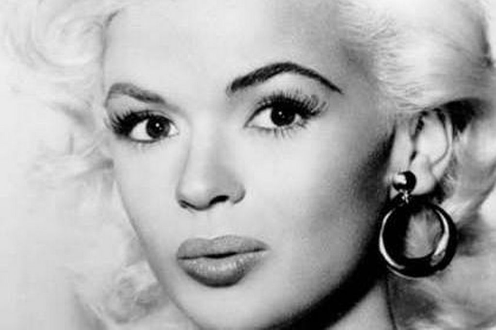 Jayne mansfield black and white cute face stills