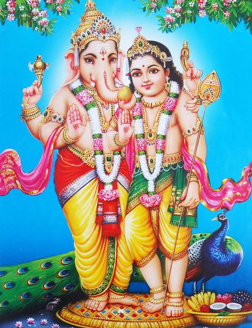 Lord vinayagar with murugan photos