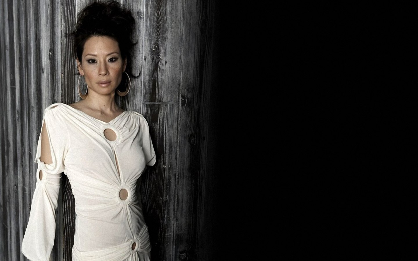 Lucy liu white color wallpapers