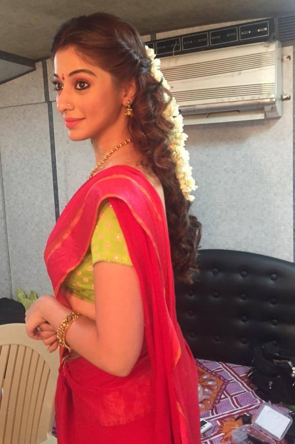 Actress laxmi rai red half saree photos