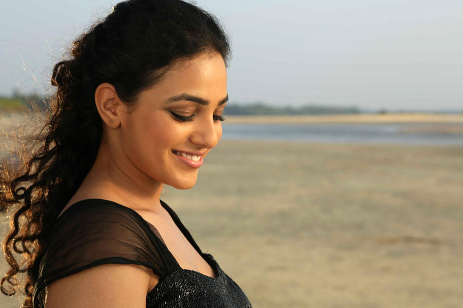Nithya menen actress black color pictures