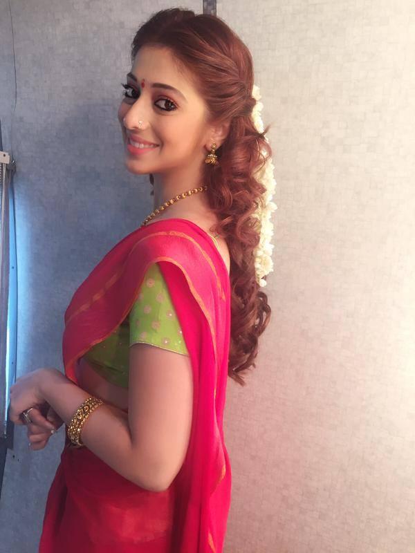 Tamil actress laxmi rai red half saree pictures