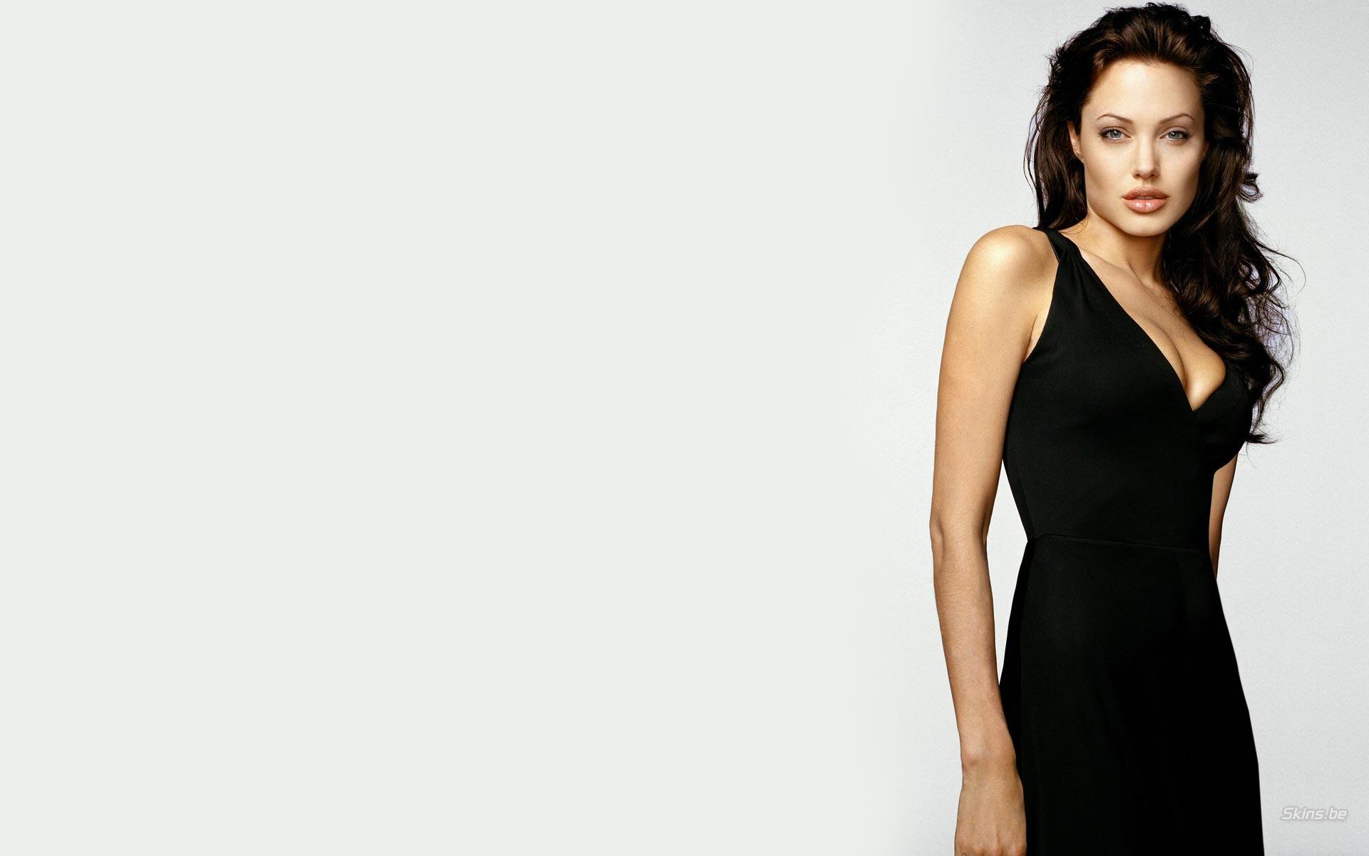 Angelina jolie black dress photoshoot images