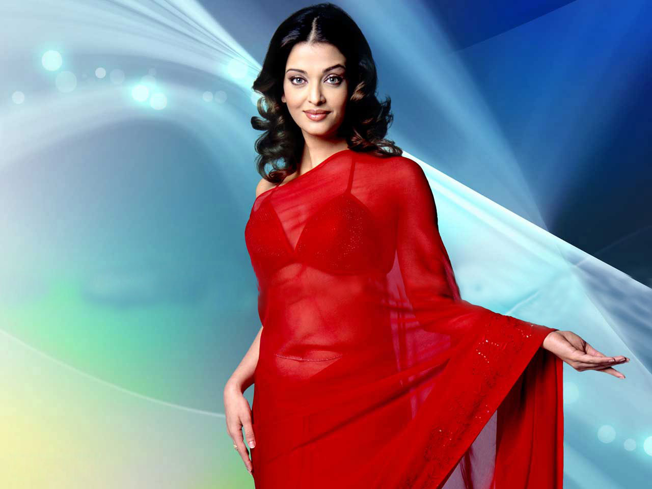 Actress aishwarya red saree pictures