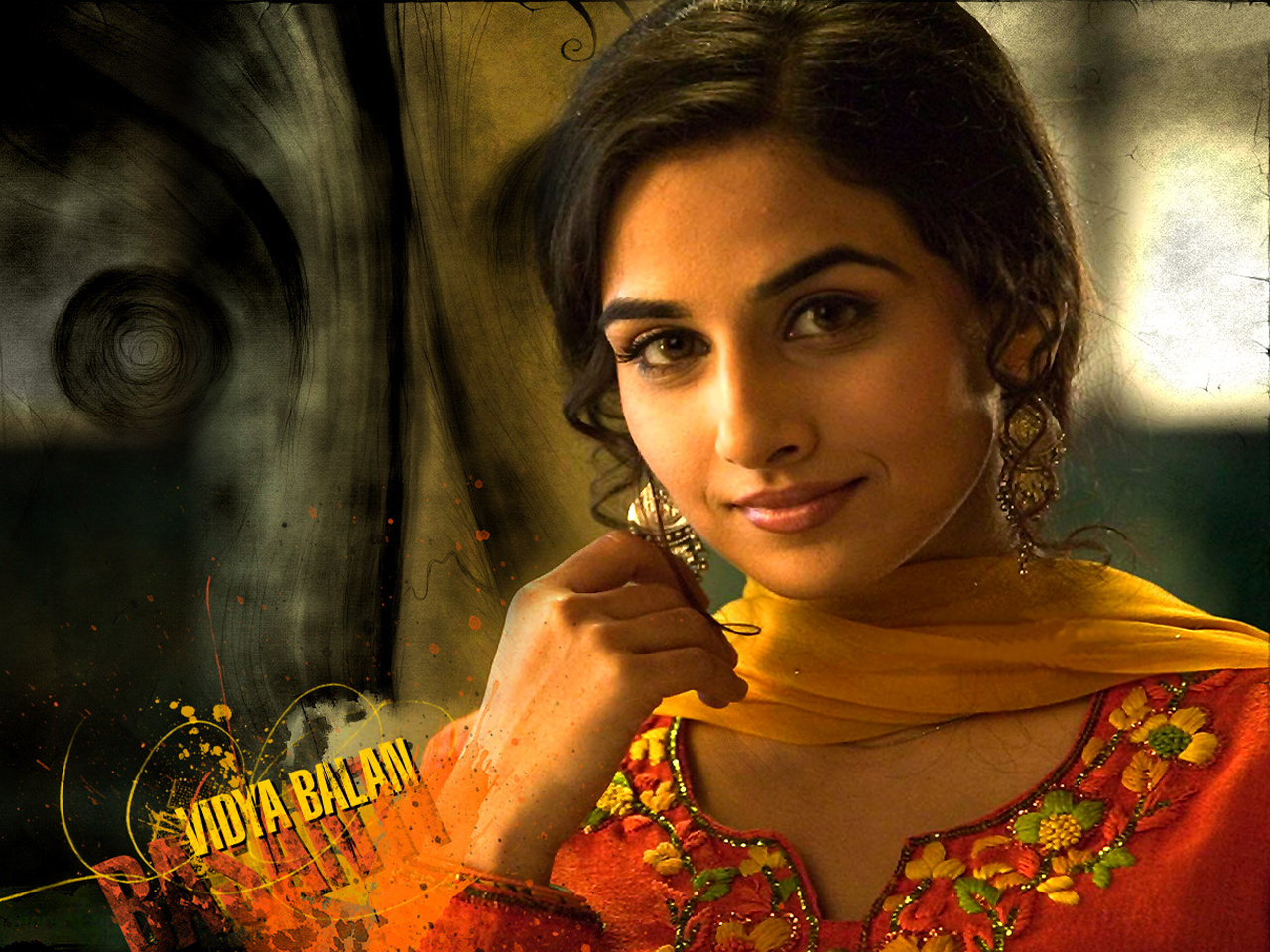 Actress vidya balan red dress photos