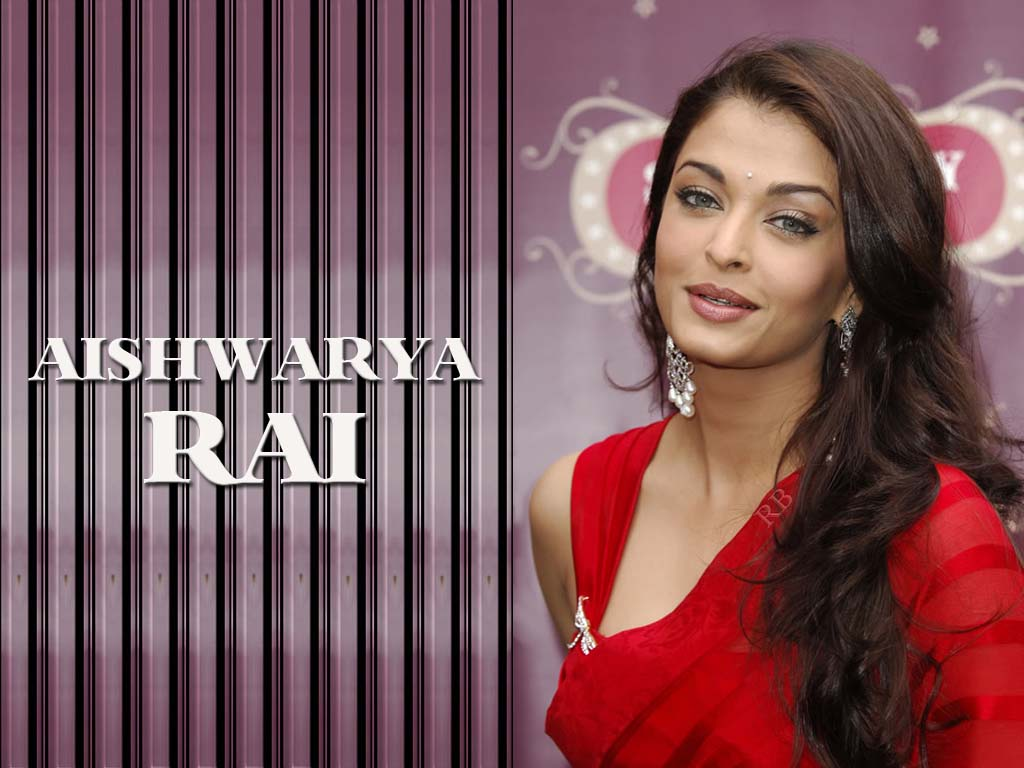 Aishwarya rai hot red saree hd wllpapers