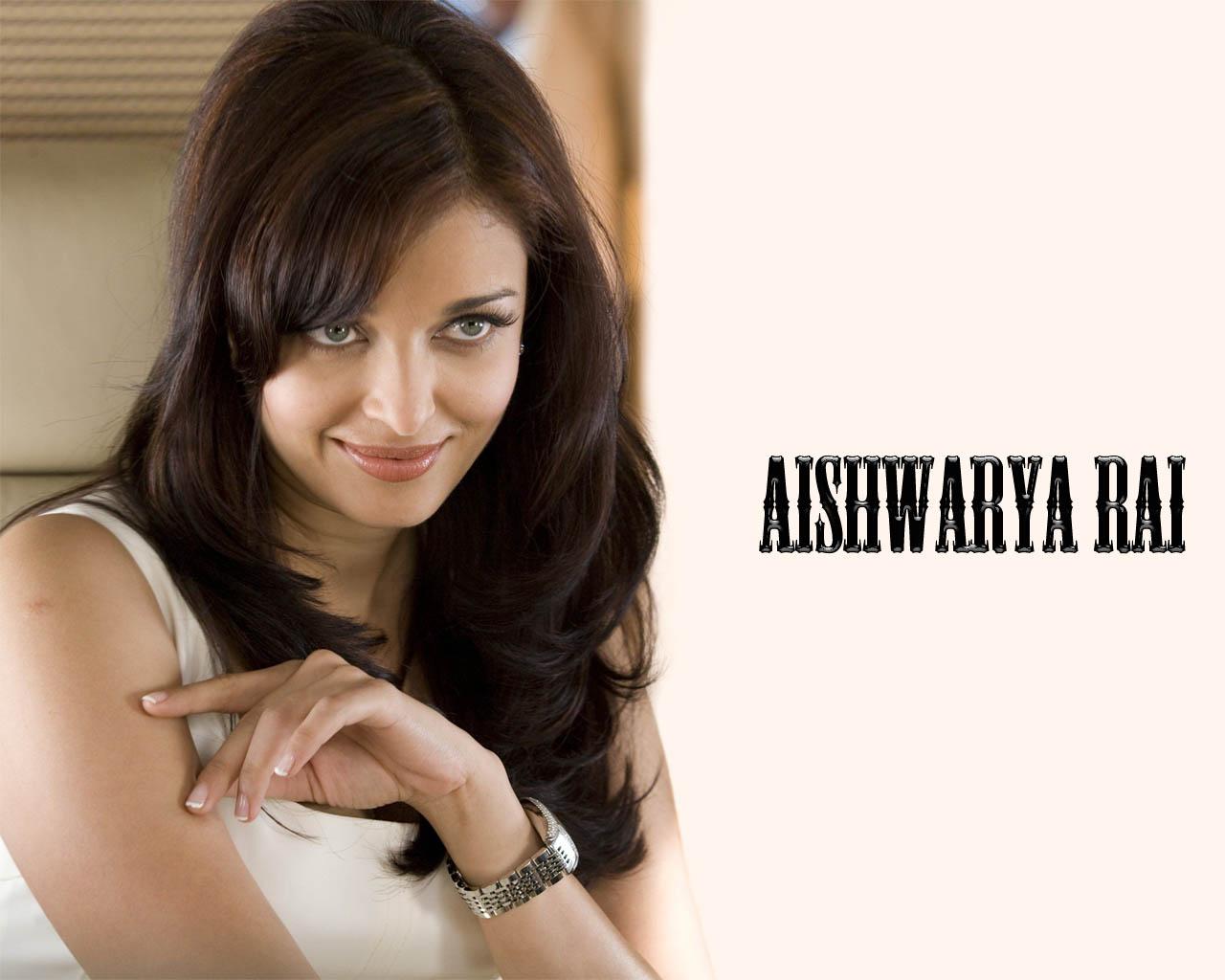 Aishwarya rai white dress image