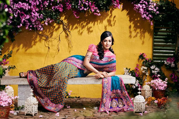 Catherine tresa actress saree wallpaper