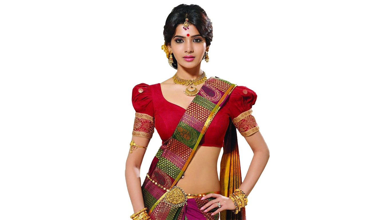 Samantha ruth prabhu in saree wallpaper