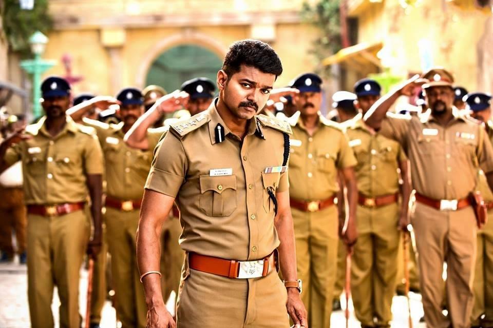 Theri vijay police dress cute photos