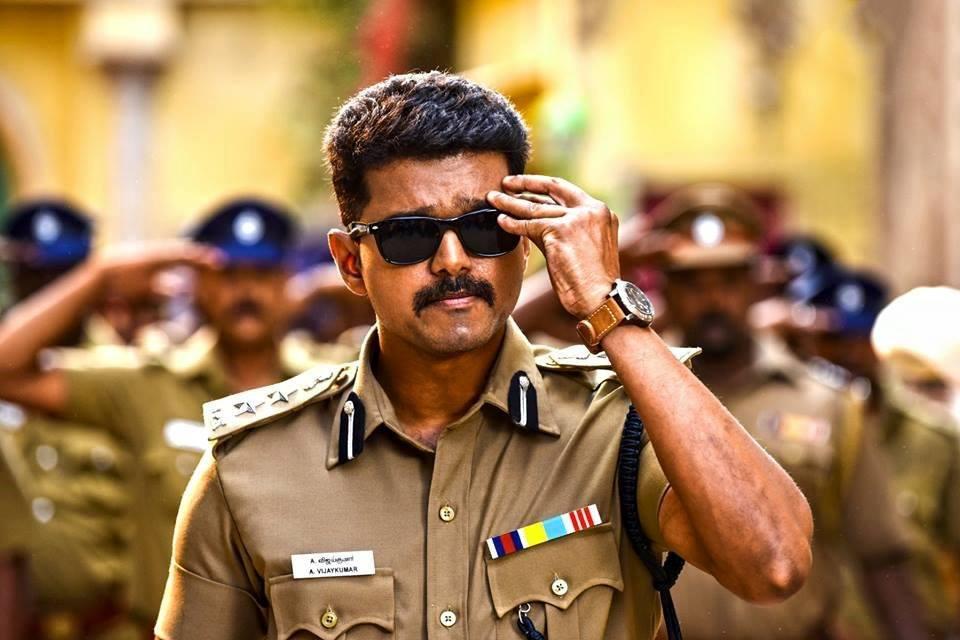 Theri vijay police dress photos