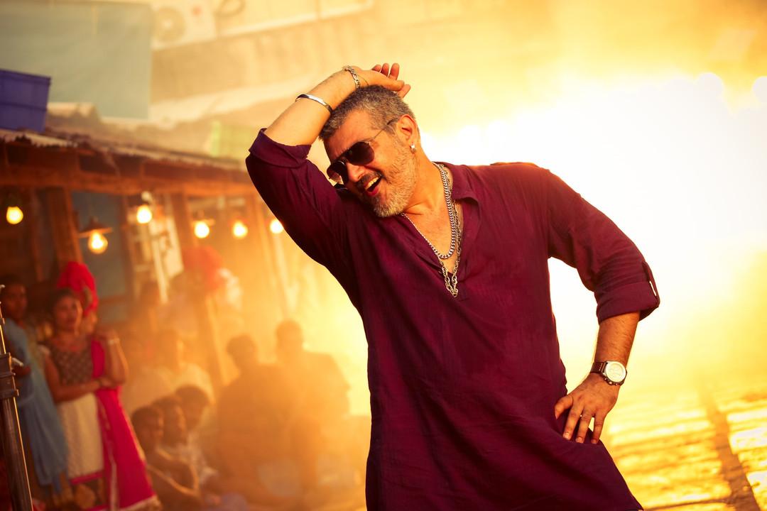 Ajith kumar actor dance stills