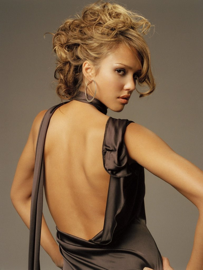 Jessica marie alba backless photos