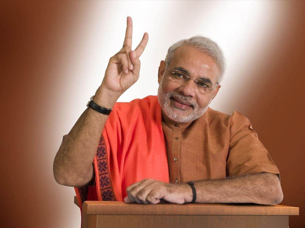 Narendra modi victory hd wallpapers