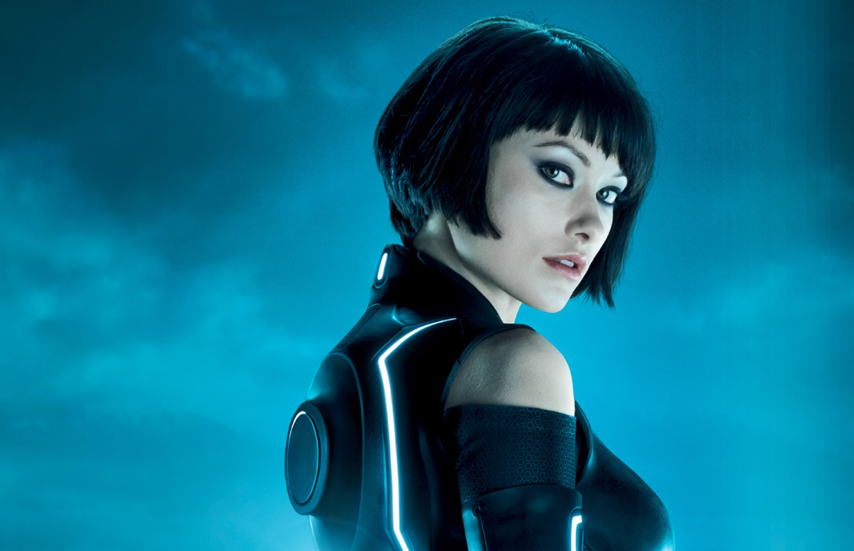 Olivia wilde tron black dress wallpapers