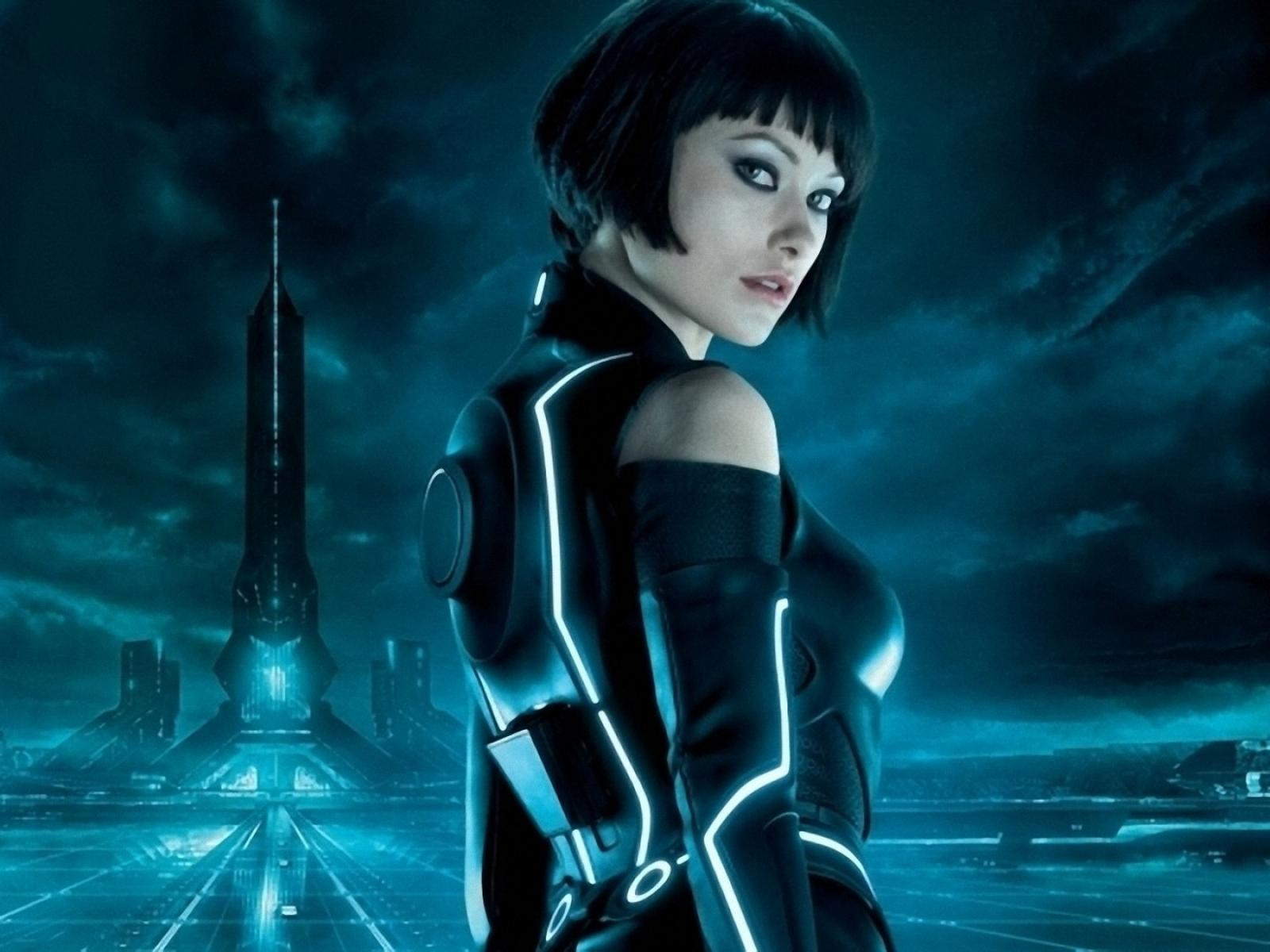Olivia wilde tron movie hot wallpaper