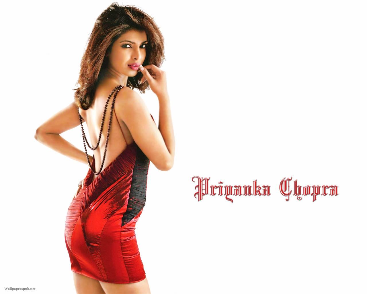 Priyanka chopra backless hot wallpaper