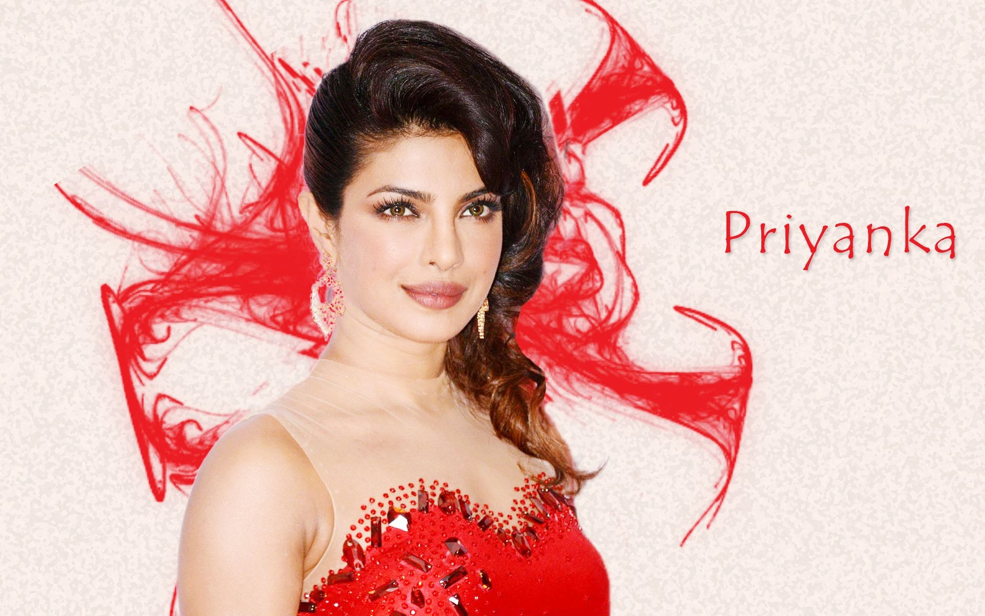 Priyanka chopra red dress wallpaper