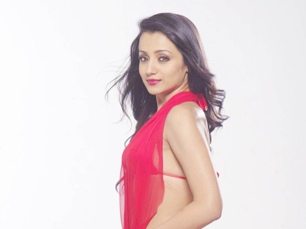 Trisha backless red dress pictures