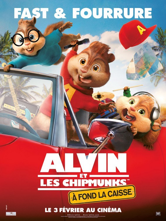 Alvin and the chipmunks road chip film poster