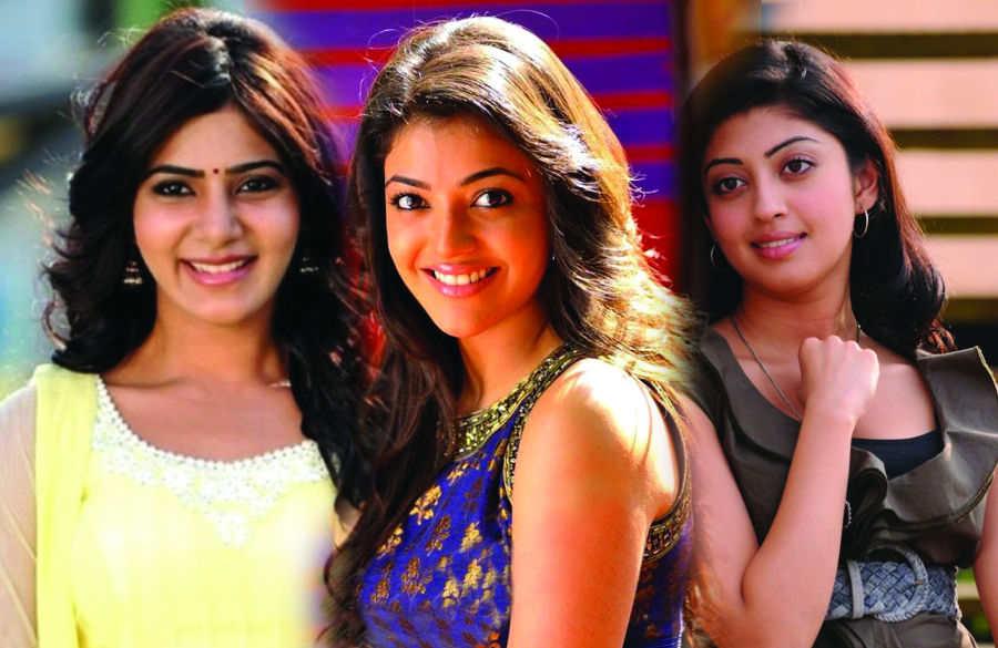 Brahmotsavam kajal samantha and praneetha photos