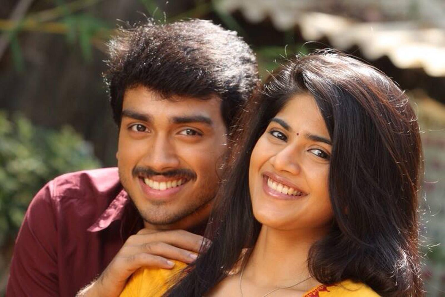 Oru pakka kathai movie megha akash and kalidas jayaram photo