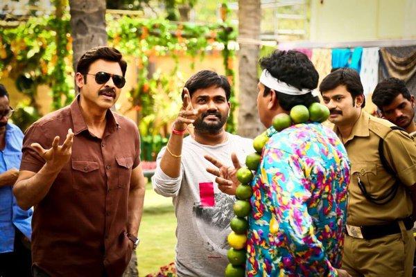 Babu bangaram movie shooting photos