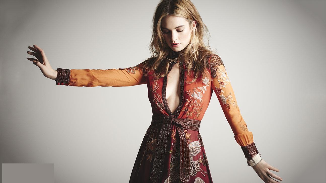 Lily james hollywood actress glamour photos
