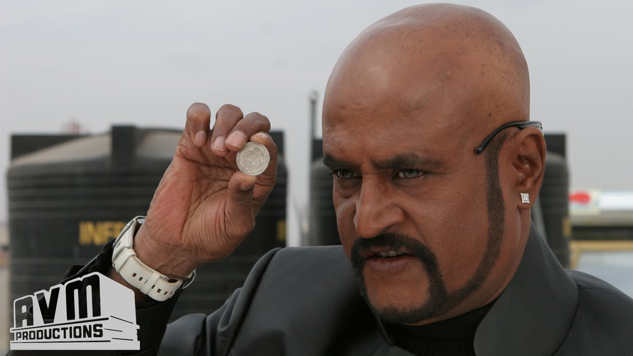 Sivaji film motta rajini with coin stills
