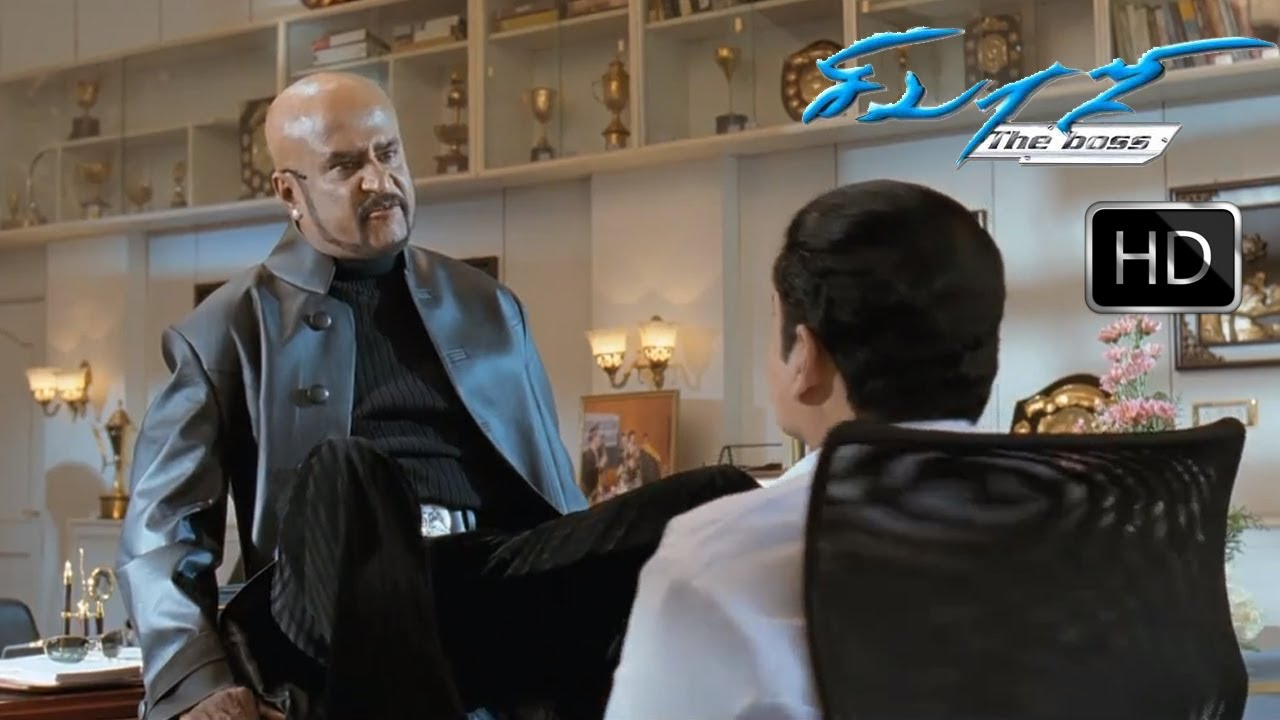 Sivaji film motta rajinikanth fight stills
