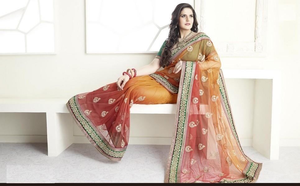 Zarine khan saree wallpapers