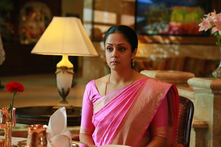 Tamil actress jyothika pink saree pictures