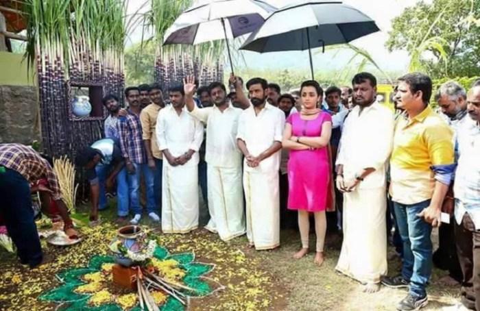 Dhanush kodi tamil movie pooja photos