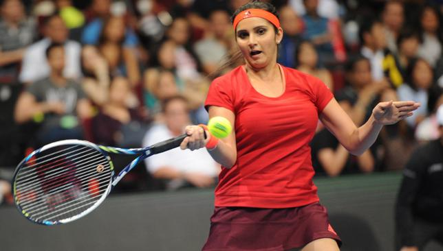 Sania mirza red dress pictures