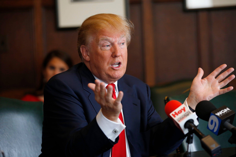 Donald trump press meet photos