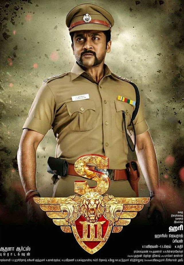 Singam 3 movie suriya poster