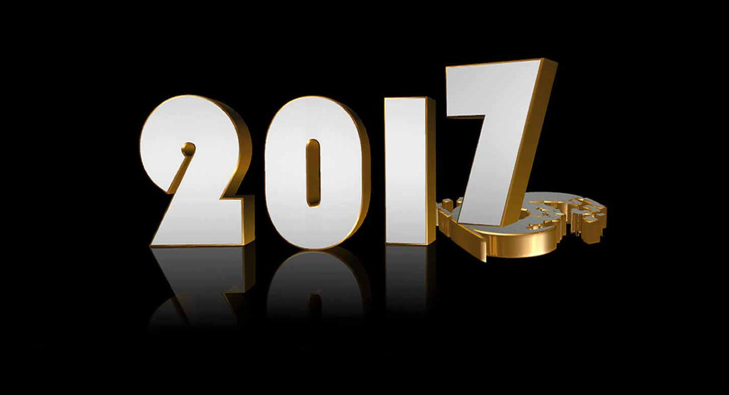 Happy new year 2017 3d photos